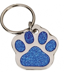 Glitzy Paw Shaped Pet Tag 35mm