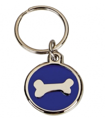 Silver Bone Pet Tag 22mm Diameter
