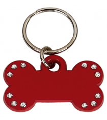 Diamond Studded Bone Shaped Pet Tag