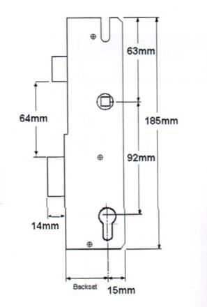 Winkhaus Lockcase 35mm